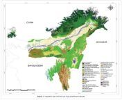 [Map] Land use map of North-East India. The region is only 8% of India's land area but accounts for 27% of the country's 800,000 sq km forest area. from land virgin gir